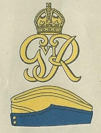 Norfolk Yeomanry - Badge with the royal cypher of George VI and service cap as worn at the outbreak of the Second World War