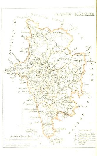 Uttara Kannada - North Kanara, 1896