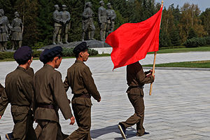 Worker-Peasant Red Guards -  Worker-Peasant Red Guards at the Samjiyon grand monument.