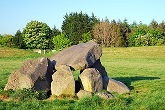 History of Belfast - The Megalithic tomb at the centre of the Giant's Ring.