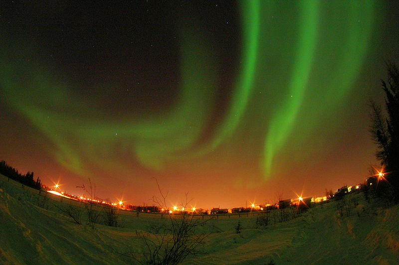 Image of the Northern Lights at Yellowknife, Canada