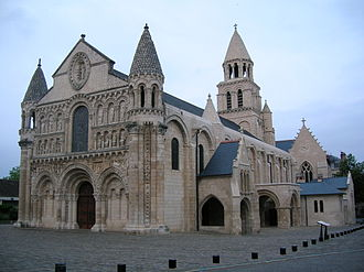 Église Notre-Dame la Grande, Poitiers - The Église Notre-Dame la Grande, from the south-west