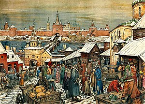 Novgorod Republic - The marketplace in Novgorod,  by Apollinary Vasnetsov.