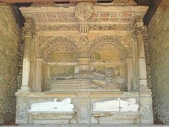 Nuneham Courtenay - Monument to Anthony and Philippa Pollard, saved from Abingdon Abbey.