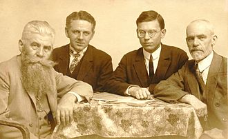 Interlingue - Edgar de Wahl (far right) in 1927.