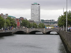 O'Connell Bridge viewed from upstream