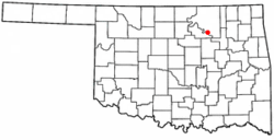 Location of Osage, Oklahoma