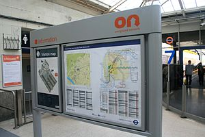 Overground Network - ON-branded signs