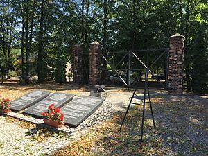 Zgoda labour camp - Camp Zgoda, main gate - monument