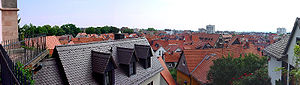 Oberursel (Taunus) - Old town view from St. Ursula church.
