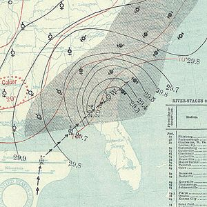 1894 Atlantic hurricane season - Image: October 9, 1894 hurricane 5 map