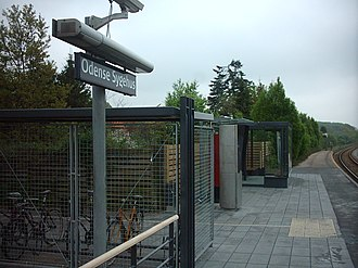 Svendborgbanen - Image: Odense Sygehus Station