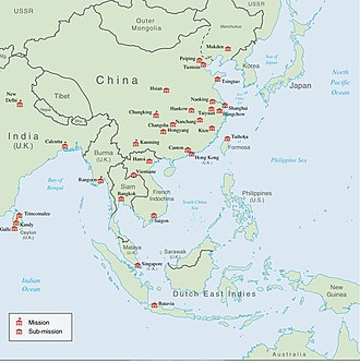 Office of Strategic Services - OSS missions and bases in East Asia