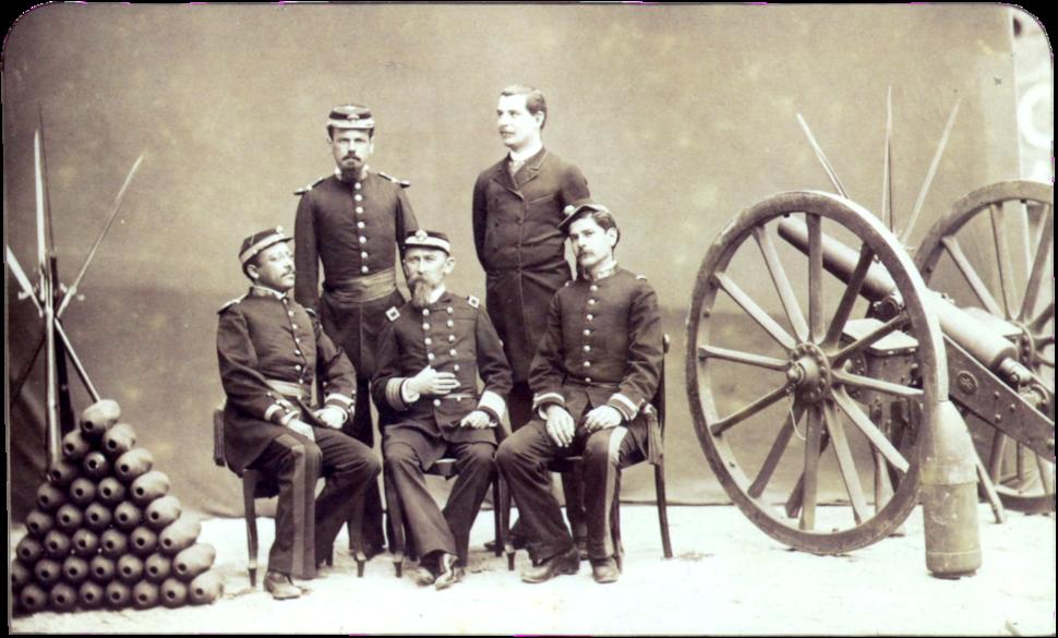 Oficiais brasileiros canhao 1886