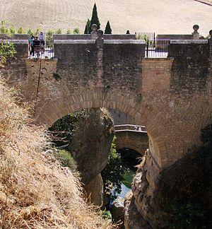 Puente Viejo - Puente Viejo (Old Bridge) with Arab (or Roman) Bridge below