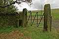 Old gate by Cross Land farm - geograph.org.uk - 548408.jpg