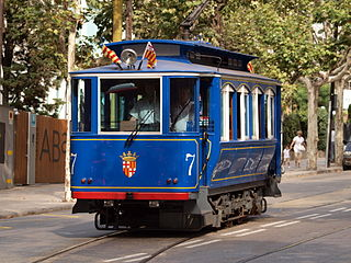 tramway line in Barcelona