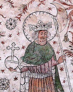 Menendo González - A medieval representation of Olaf Haraldsson.