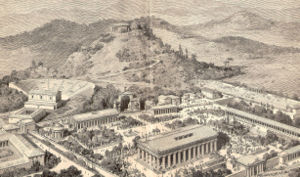 Artists impression of ancient Olympia