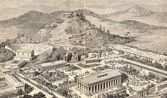 Ancient Olympic Games - An artist's impression of ancient Olympia