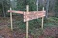 Opasteita Kaksvetisen kodan eteläpuolella, Liesjärven kansallispuisto, Tammela, 15.11.2014..JPG
