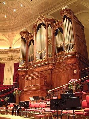 Concertgebouw - The organ in the Main Hall of the Concertgebouw