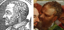 "Portraits of Diego Ortiz from Trattado de Glossas and from Veronese's ""The Wedding at Cana"" second unknown viola-gambist"