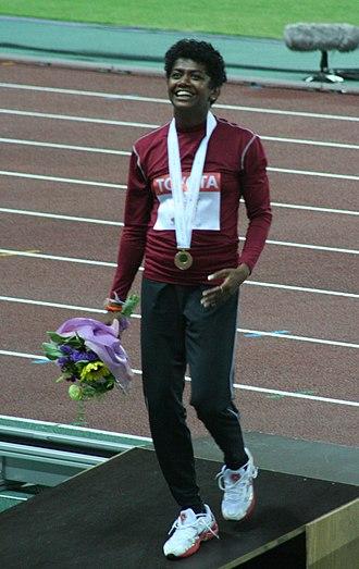 Susanthika Jayasinghe - Jayasinghe at the 2007 World Championships