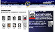 Osama Bin Laden marked deceased on FBI Ten Most Wanted List May 3 2011