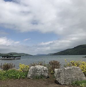 Otsego Lake (New York) - Looking north from Lakefront Park