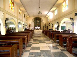 Pinabacdao, Samar - Our Lady of Sorrows Parish interior