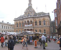 Outside Ipswich Town Hall on a market day - geograph.org.uk - 548534.jpg