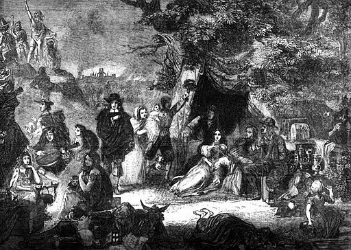 P438 Scene Presented in Highgate Fields During the Great Fire of London 1666