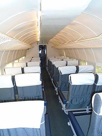 Douglas DC-3 - DC-3 airliner cabin