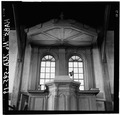 PULPIT, AXIAL VIEW - Old Ship Church, 88 Main Street, Hingham, Plymouth County, MA HABS MASS,12-HING,5-33.tif