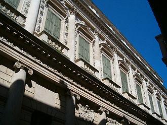 Palazzo Barbaran da Porto - Facade detail