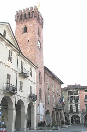 Nizza Monferrato - Civic Palazzo (Palazzo Comunale) and clock tower