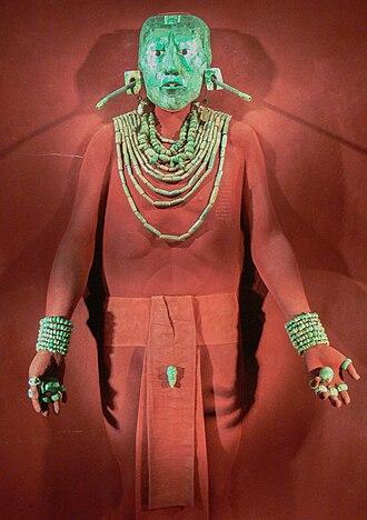K'inich Janaab' Pakal - Mounted funerary jewelry of K'inich Janaab Pakal I.