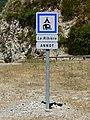 Panneau camping La Ribière, Annot.jpg