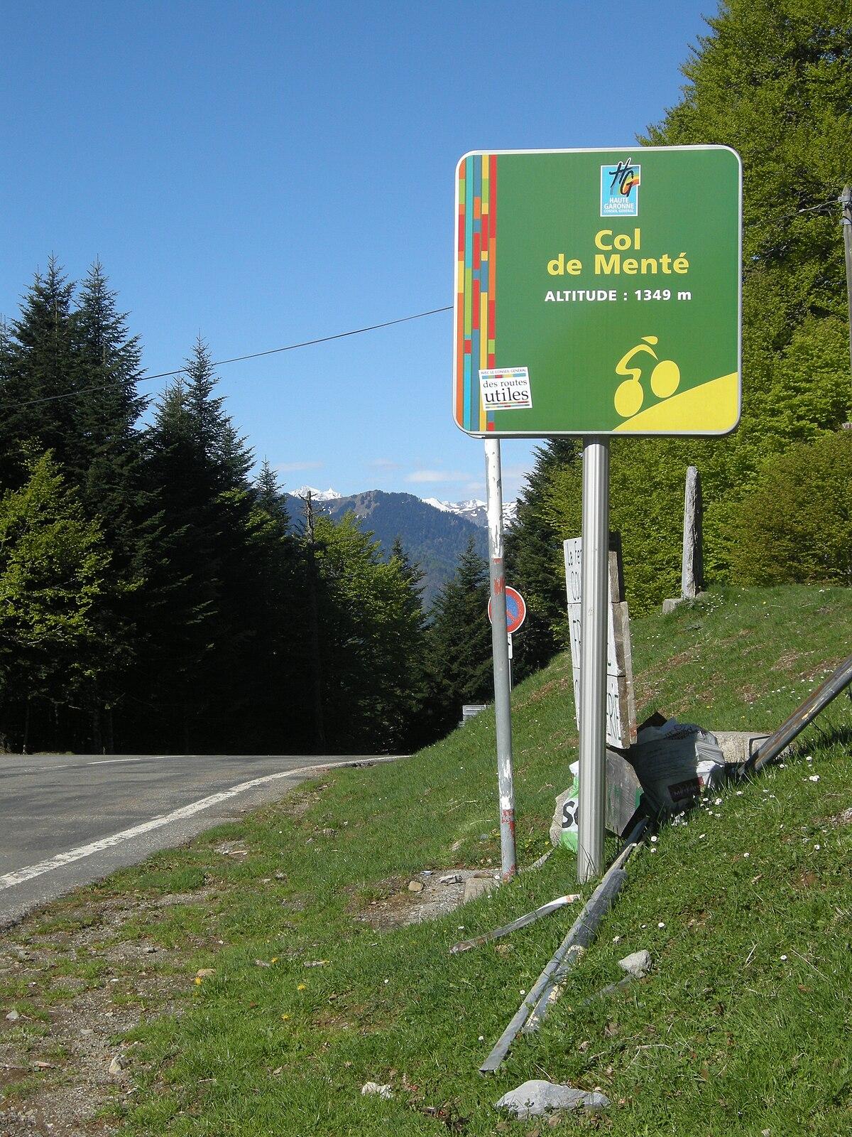 File:Panneau de signalisation Col de Mente.jpg - Wikimedia Commons