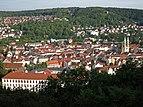 Näkymä Meiningenin vanhaankaupunkiin Diezhäuschenistä