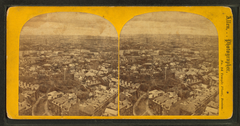 Panorama from Bunker Hill monument, southwest, by E. L. Allen.png