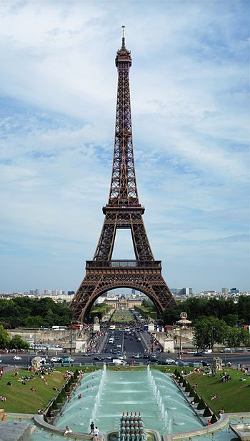 English: Tour Eiffel, view from the Trocadero