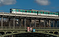 Paris Metro Line 6 train crossing Pont de Bir-Hakeim, East Part 140203 6.jpg