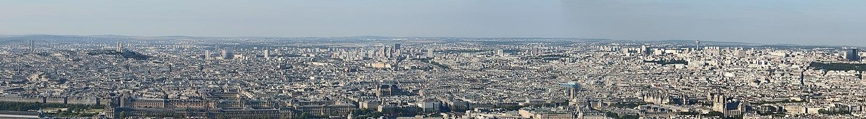 Панорама Парижа с Башни Монпарнас на северо-восток.