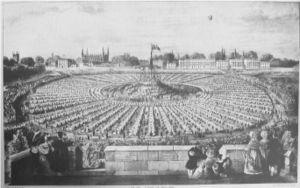 Parker's Piece - The coronation feast of 1838.