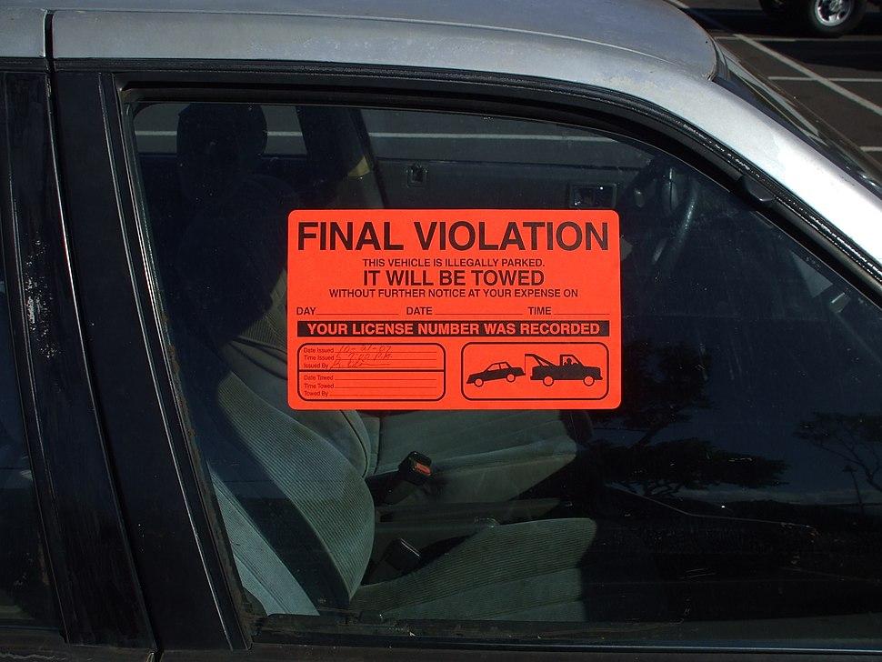ParkingViolationSticker