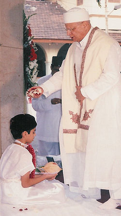 Parsi Navjote ceremony (rites of admission into the Zoroastrian faith)