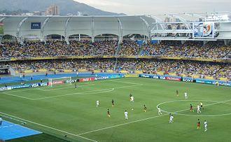 Estadio Olímpico Pascual Guerrero - The stadium during a football game in 2011