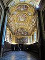 Passetto tra capitolo e parlatoio, con affreschi volta di bernardino cesari (1593) 01.JPG